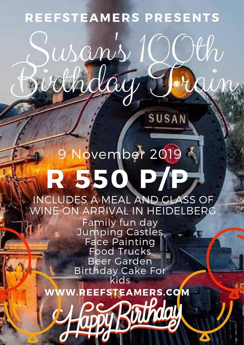 Reefsteamers celebrates Susan 100 birthday 9th November 2019 – Birthday Trip to Heidelberg